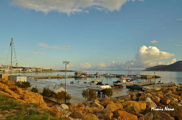 Koufonisia - Port after the rain