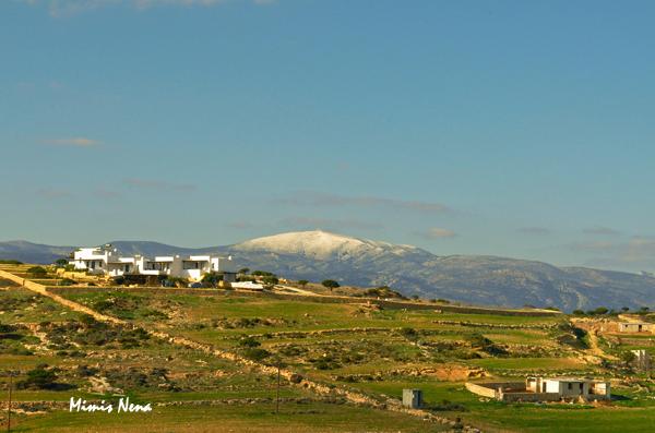 Snow on top of Naxos