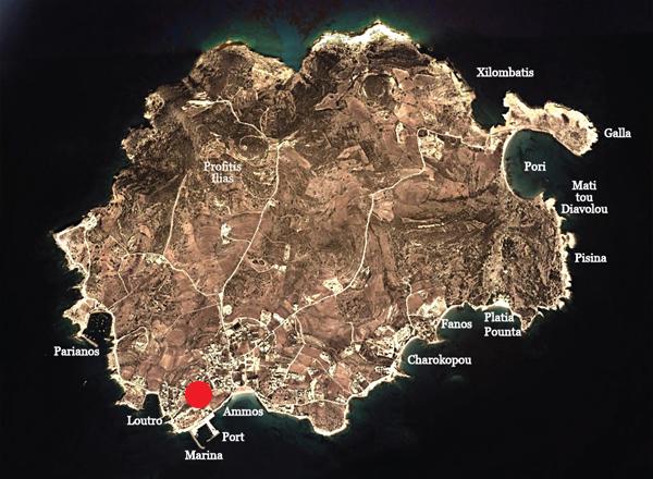 Ionathan Koufonisia Suites map