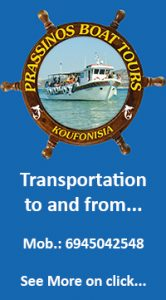 Prassinos Boat Tours Page
